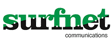 This Is An Image Of The Surfnet Logo With Green And Black Filling Of Letters